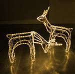 SET Of 2  Reindeer Motif Christmas Rope Light 3D