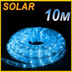 SOLAR LED 10M PVC TUBE ROPE LIGHT  BLUE