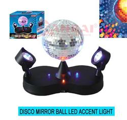 mirror ball led accent light