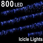800 LED ICICLE LIGHT BLUE