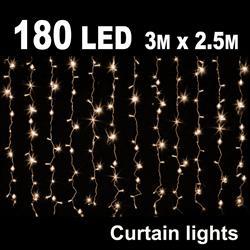 180 Led Curtain Light 3m X 2 5m Lcs180ww
