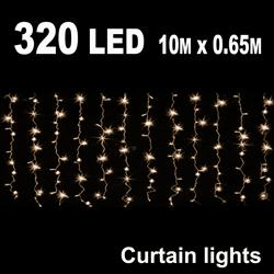 320 LED CURTAIN LIGHT 10M X 0.65M WARM WHITE