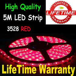 5M 3528 LED Flexible Strip Light 30/M Red