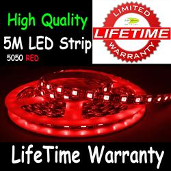 5M 5050 LED Flexible Strip Light 60/M Red