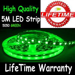 5M 5050 LED Flexible Strip Light 30/M Green