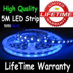 5M 5050 LED Flexible Strip Light 30/M Blue