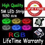 5M 5050 LED RGB Colorful Strip Light 30/M