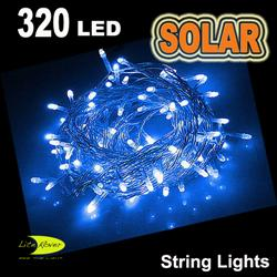 SOLAR 320 LED STRING LIGHT BLUE