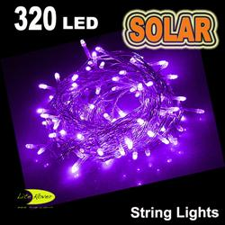 Purple solar string lights