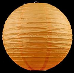 "12 x 10 ""/ 25cm paper lanterns orange"