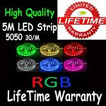 5M 5050 LED RGB Colorful Strip Light 30/M Unit