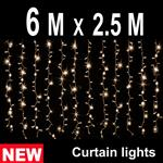 768 LED CURTAIN LIGHT  6M X 2.5M WARM WHITE