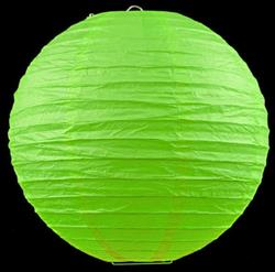 "12 x 8 ""/ 20cm paper lanterns grass green"