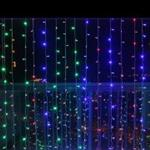 768 LED CURTAIN LIGHT  6M X 2.5M MultiColoured