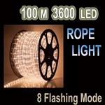 100m LED Rope Light WARM WHITE