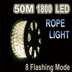 50m LED Rope Light Warm White