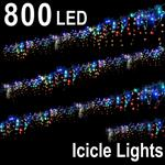 800 LED ICICLE LIGHT MultiColored