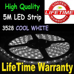 5M 3528 LED Flexible Strip Light 60/M Cool White