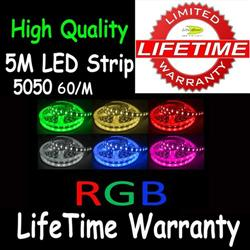 5M 5050 LED RGB Colorful Strip Light 60/M Unit